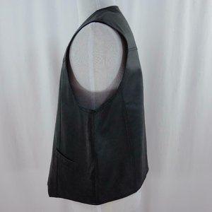 USA Leather Jackets & Coats - USA Leather Black Motorcycle Vest Mens Sz XL